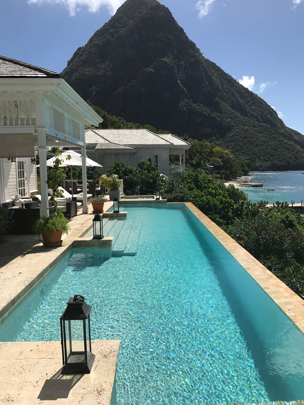 Overlooking the Gros Piton, St Lucia